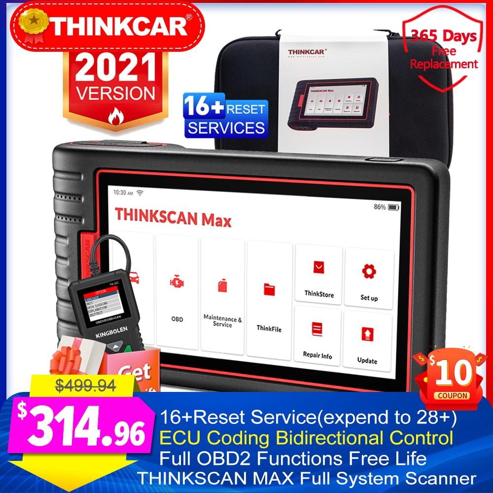 Авто OBD2 диагностические инструменты Thinkscan Max полная система ЭБУ кодирование двунаправленное управление 28 сброс бесплатно PK Launch X431 Сканеры