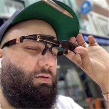 2020 Luxury Brand Sunglasses Men Vintage Punk Hip Hop Flip S