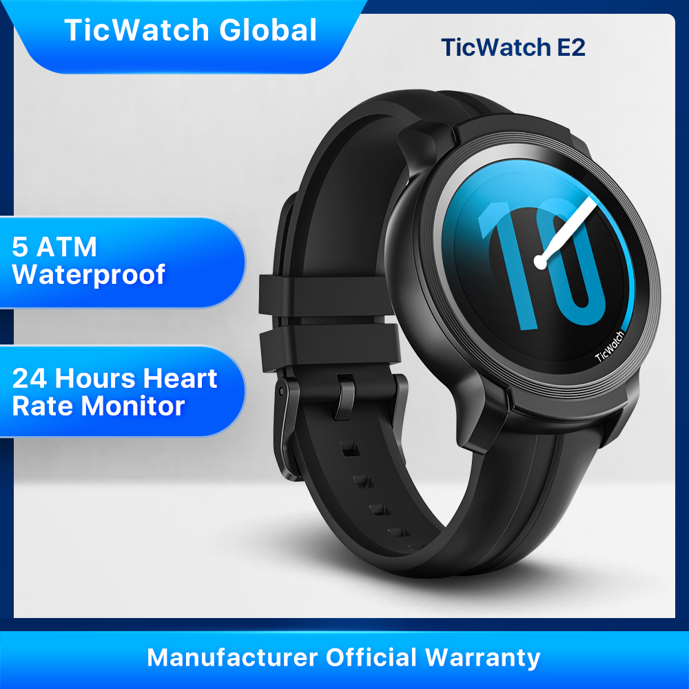 TicWatch E2 Android Wear Smart Watch with GPS Wear OS by Google iOS& Android compatible 5ATM Waterproof Long Battery life(China)