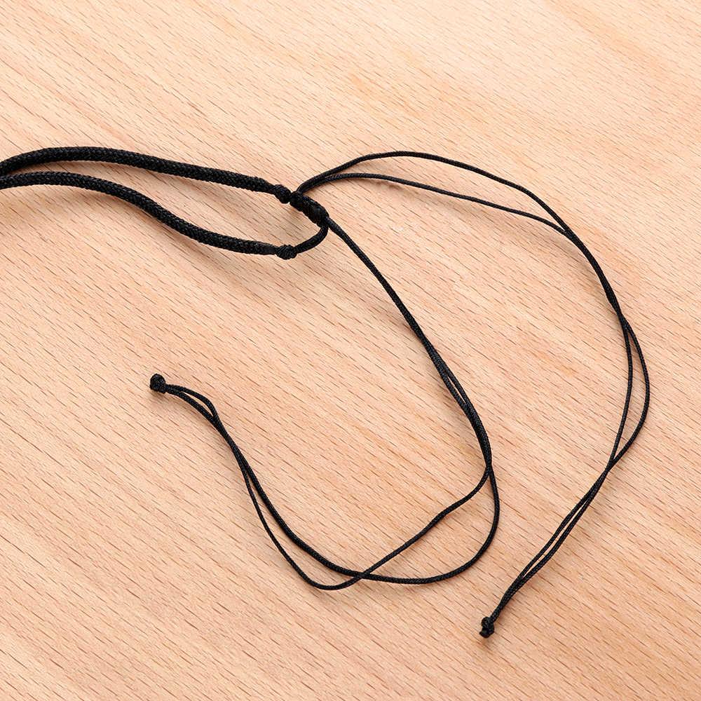 1 pc obsidian pingente colar retro sorte bênção preto bola redonda forma hexagram camisola corrente masculino moda jóias acessórios