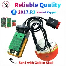 2021 Nieuwe Collectie Goud Kleur OBD2 Scanner Vd DS150E Cdp Bluetooth 2017.R3 Keygen Voor Delphis Auto S/Vrachtwagens Obd2 Diagnostic Tool