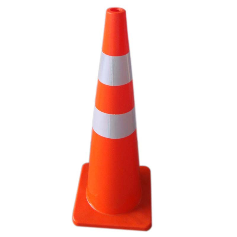 Manufacturers Direct Selling PVC 70cm 28-Inch Plastic Signs Traffic Facilities Reflective Rubber Traffic Cone