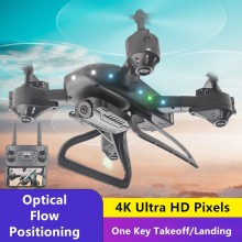 4K HD WIFI Real-time Transmission RC Drone Optical Flow Positioning Phone APP Control 3D Stunt Roll One Key Return RC Quadcopter(China)