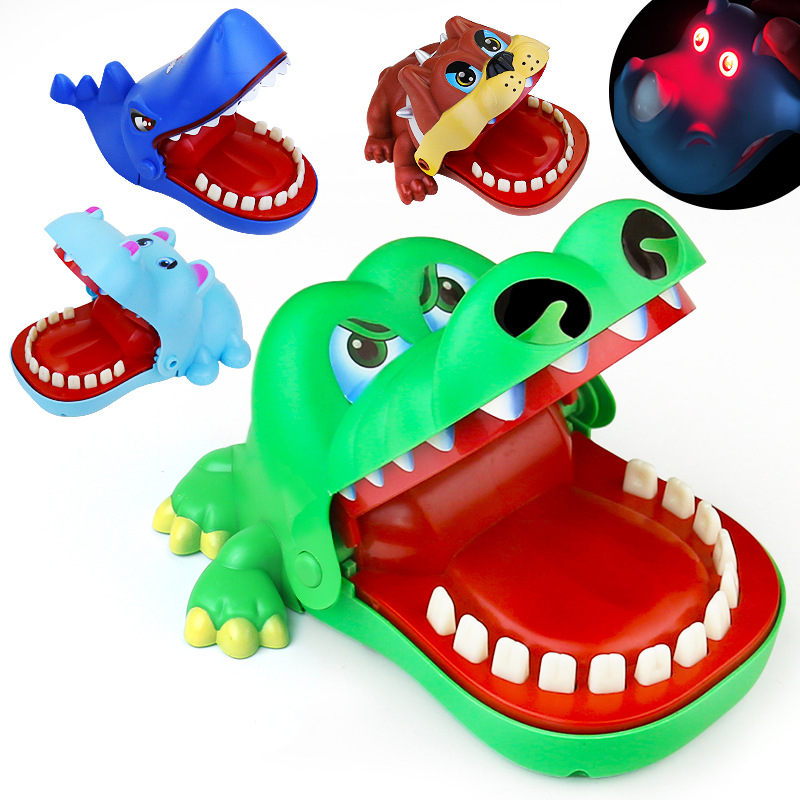 Large Bite Finger Crocodile Bad Dog Shark Tooth Extraction Hippo Tidy Whole Parent-child Game Props Bite Toy