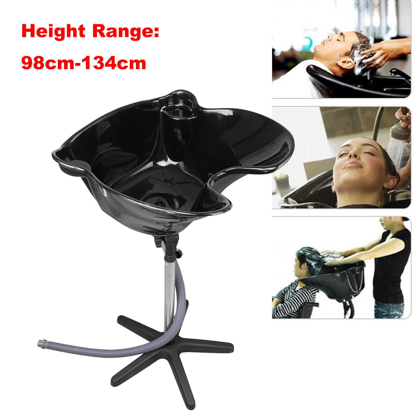 Salon Mobile Portable Hairdressing Washing Hair Basin Backwash Shampoo Bowl
