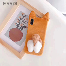 Essidi Cute Animal Keki Dog Butt Phone Cases For iPhone XR X