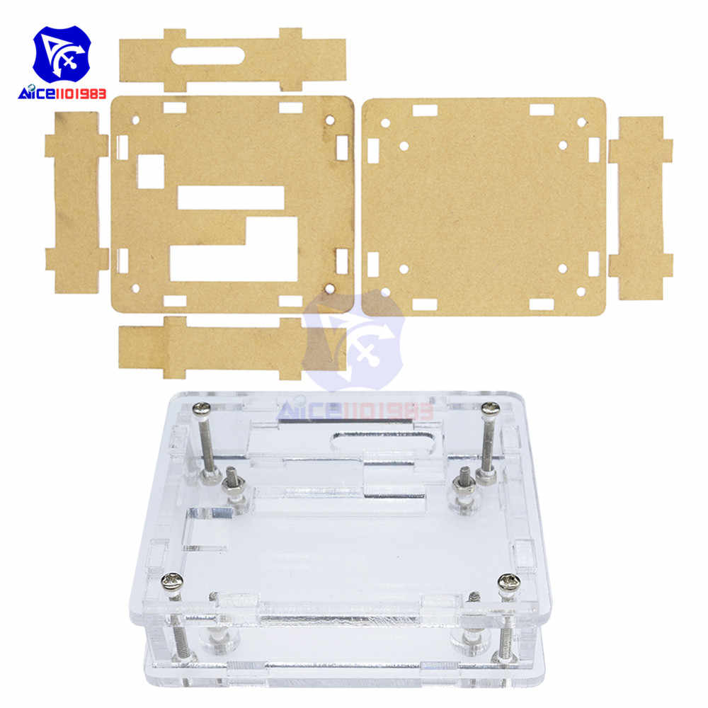 Diymore Acrylic Case Cover untuk W1209 Digital LED DC 12V Panas Cool Thermostat Suhu Control Switch Modul Controller Modul