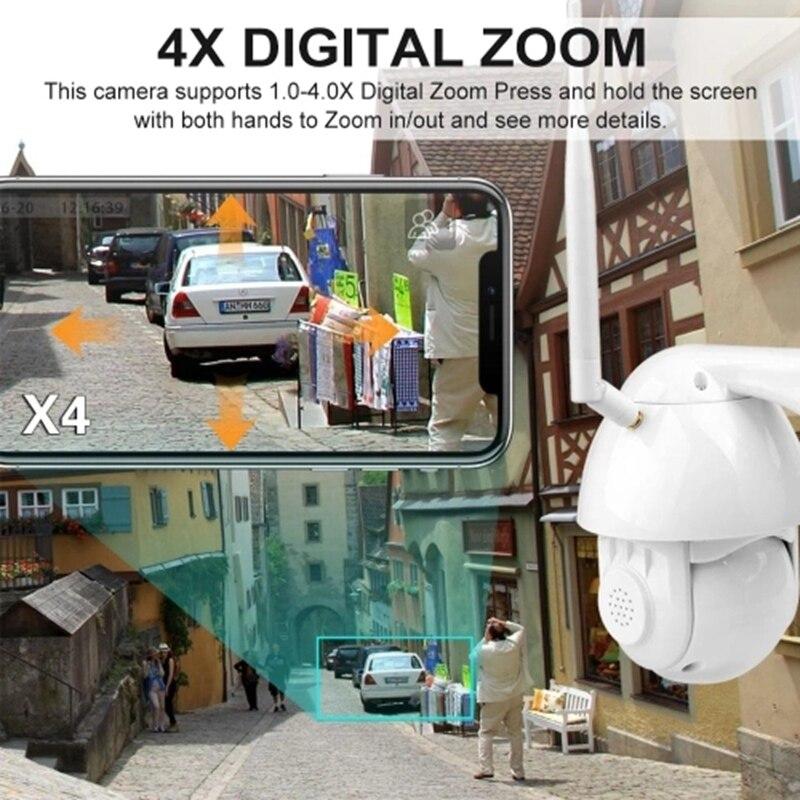 rosto detectar rastreamento automático 4x zoom bidirecional