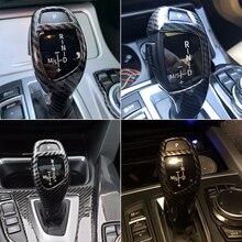 Автомобильный стиль, углеродное волокно, рукоятка переключения передач, рукав, кнопка, крышка, наклейки, Накладка для BMW F20, F30, F10, F32, F25, X5, F15, X6, F16