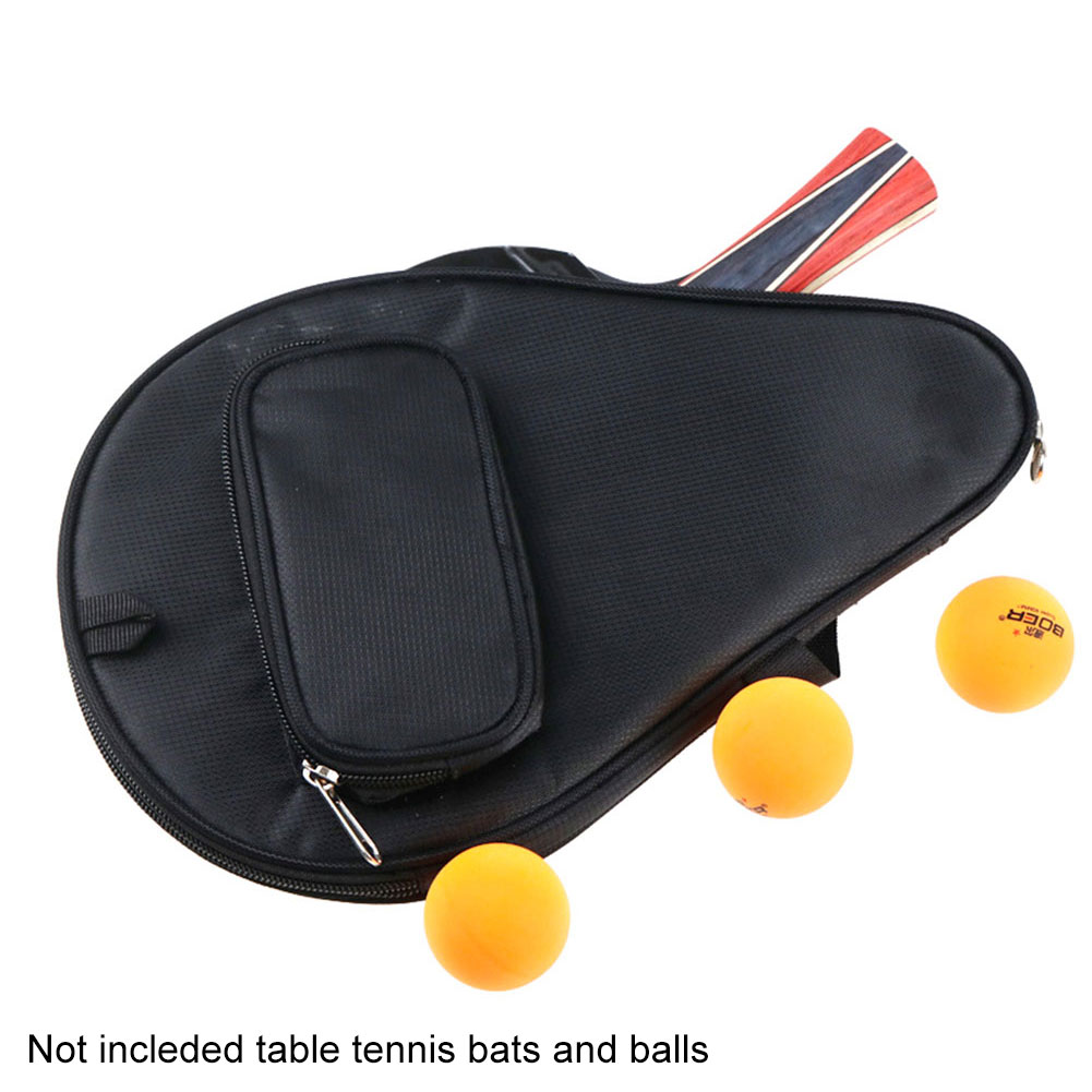 Table Tennis Racket Bag Pingpong Case Accessories Protective Gourd Shape Equipment Training Professional Waterproof Zipper Sport