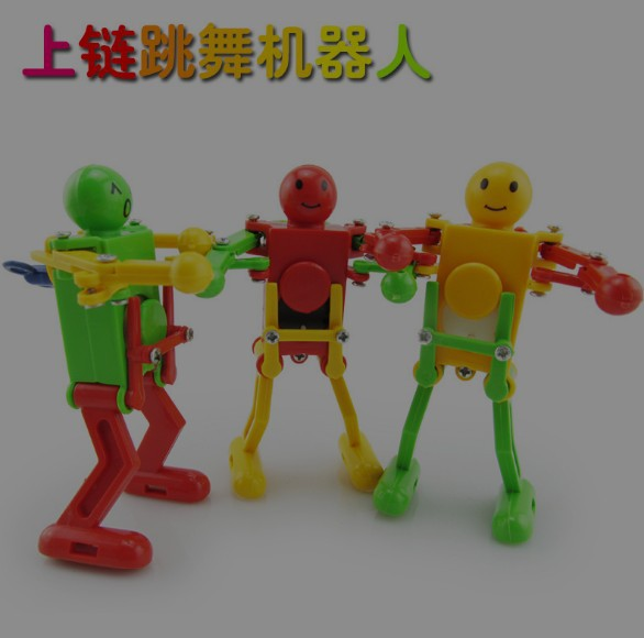 Children Creative Spring-Winding Small Toy Strange New Dancing Robot Toys Stall