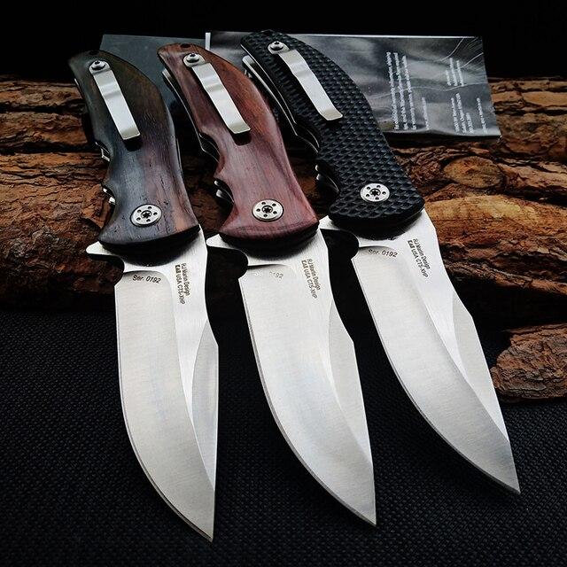 Hot 0606 Tactical Folding knife Log handle Outdoor Camping Survival Hunting Knife portable Pocket Compact Knives EDC Hand tools 2