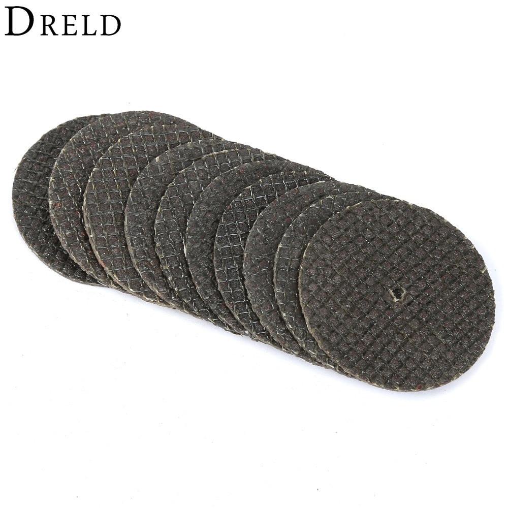 10Pcs 32mm Disco de corte de metal de fibra de resina Hoja de sierra circular Disco de lijado de corte de rueda Dremel para herramientas rotativas de amoladora Dremel
