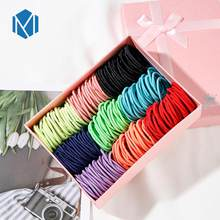 60/120pcs/Lot Children Candy Color Scrunchies Elastic Hair Bands Rubber Bands Basic Kids Hair Accessories Hair Styling Gum(China)