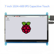 7 inch 1024*600 IPS Capacitive Touch Panel TFT LCD Module Screen Display for Raspberry Pi 3 B+/4b