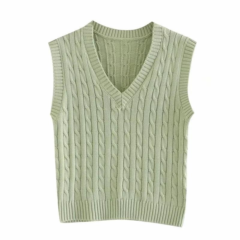 Slim girls soft cotton vest sweaters 2020 fashion ladies elegant knitted  vests vintage female short sweater women chic sweater| | - AliExpress