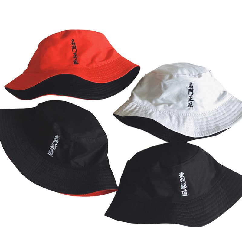 Chapeau seau créatif brodé Double face | Porter, chapeau de seau créatif brodé décontracté casquette à visière mode décontractée, casquette d'été hommes femmes, Hip Hop chapeau de pêcheur