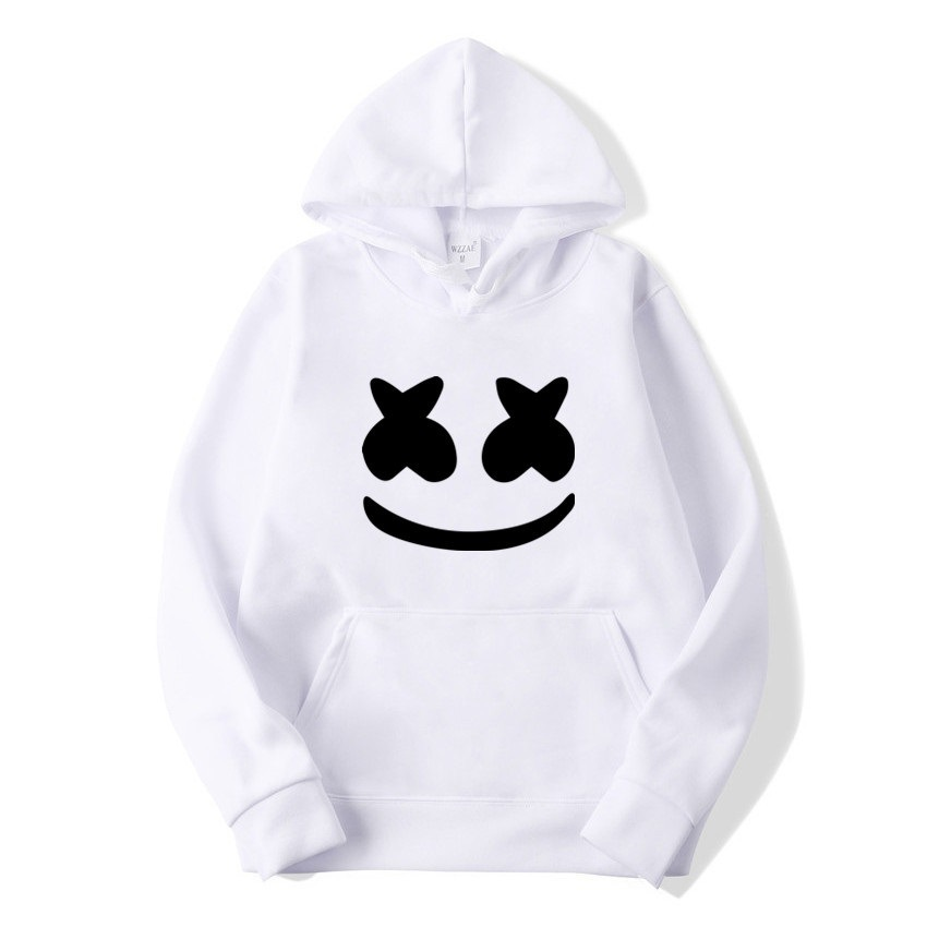 2019 Autumn New Style Pullover Hoody MEN'S Sports Jacket Marshmello Face Hoodie Casual Cap