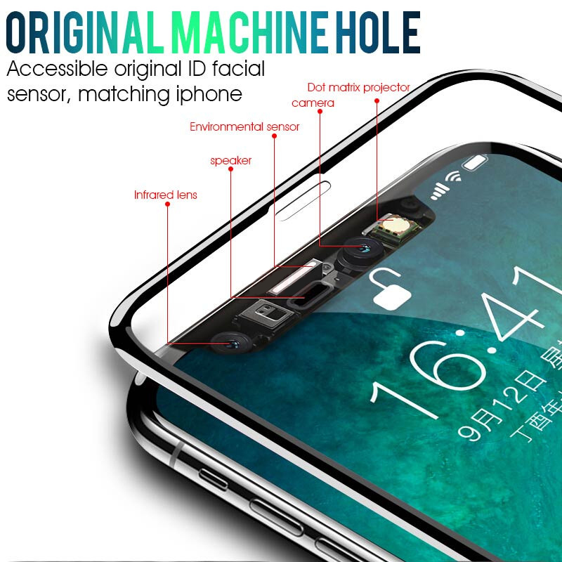 Full-Cover Screen-Protector Protective-Glass 6s XR iPhone 11 8-Plus 5pcs/Lot for Max-X-Xs