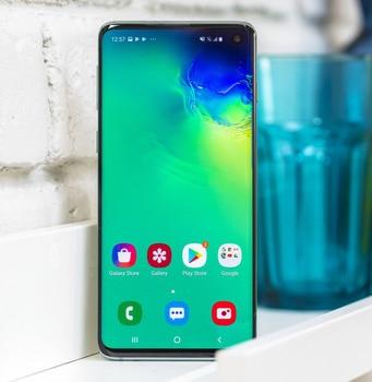 "Used Original Samsung Galaxy S10 G973U 4G LTE 19:9 6.1"" octa core android 9.0 mobile phones 8G RAM+128G ROM 16MP unlocked Global 2"