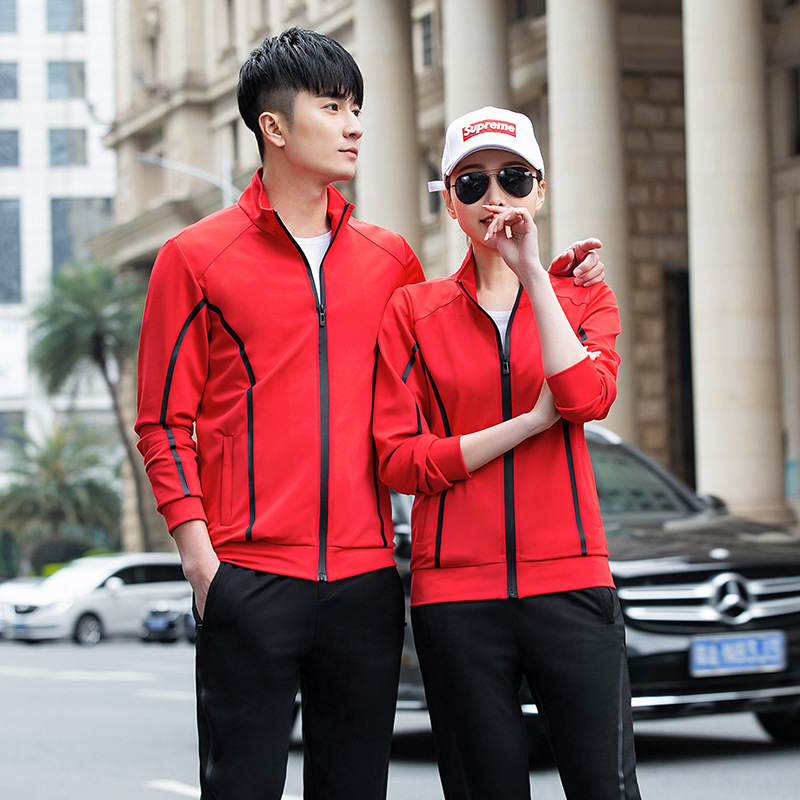 Sports Set Men's Spring And Autumn New Style Running Casual Sports Clothing Large Size Set Men And Women Couple Clothes Coat Clo