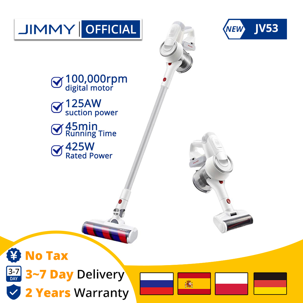 [Free Duty] XIAOMI JIMMY JV53 Handheld Cordless Vacuum Cleaner 125AW 20kPa Effective Suction Power Portable Clean Dust Collector