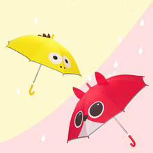 8 Bone Umbrella Cartoon children umbrella semiautomatic stereoscopic dinosaur Sunny Straight handle