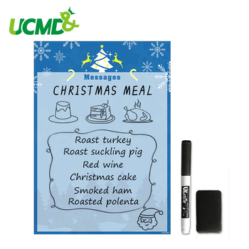 A4 Flexible Whiteboard Fridge Sticker Kids Drawing Board Christmas Gift Magnetic Writing Reminder Record Message Memo Note Board 4pcs lot flexible fridge magnets whiteboard kids reusable drawing writing message board note pad refrigerator magnetic sticker