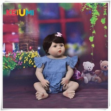 New Arrival 23 inch Baby Girl Doll Full Silicone Body Lifelike Reborn Bonecas Handmade Toy For Kids Christmas Gifts