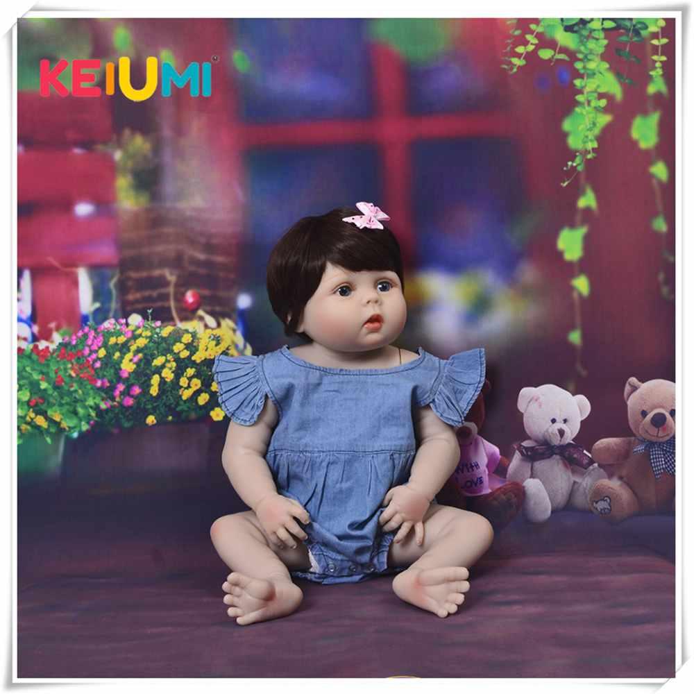 Nouveauté 23 pouces bébé fille poupée corps en Silicone réaliste bébé Reborn Bonecas fait main bébé jouet pour enfants cadeaux de noël