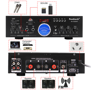 Усилитель мощности SUNBUCK AV-505AT, Bluetooth, USB, FM 2