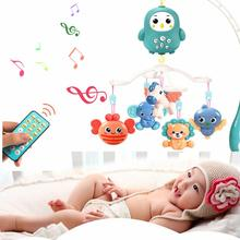 Baby Toys 0-12 Months Crib Mobile Musical Bed Bell Projection Rattles Early Learning Newborn Baby Educational Toy baby musical crib mobile bed bell toys hanging rattles newborn infant starry flashing projection rotating toy holder bracket