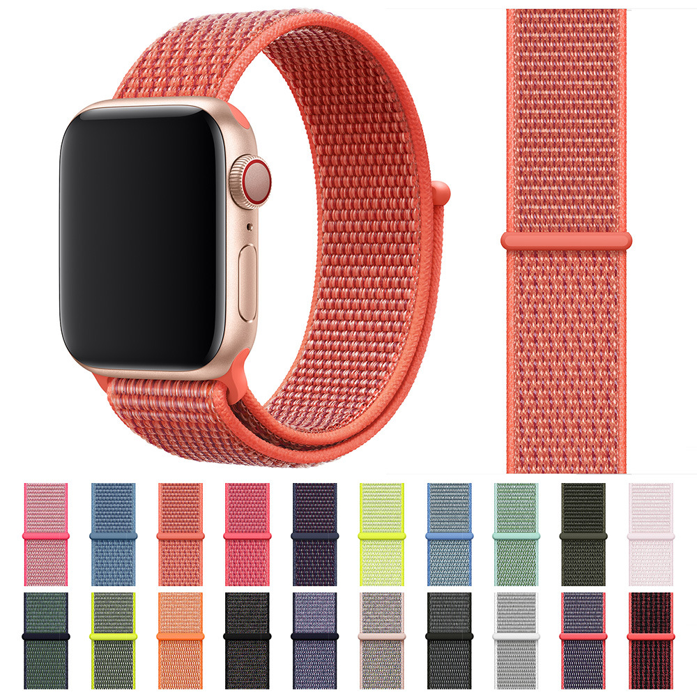 Sport Loop For Apple Watch Band Series 4 3 2 1 Reflective Strap For Iwatch 38 40 42 44 Mm Breathable Woven Nylon Wristband