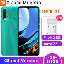 Xiaomi – téléphone portable Redmi 9T, Version globale, 4 go de RAM 128 go de ROM, Snapdragon 662, batterie 6000mAh, caméra arrière Quad 48mp, Bluetooth 5.0