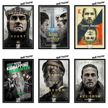 King Arthur Legend of the Sword Movie White Kraft Paper Painting Art Print Poster Wall Picture For Home Decor 42X30cm