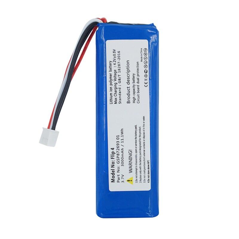 GSP872693 01 3.7v 3000mah Battery For JBL Flip 4 /Flip 4 Special Edition Batteries