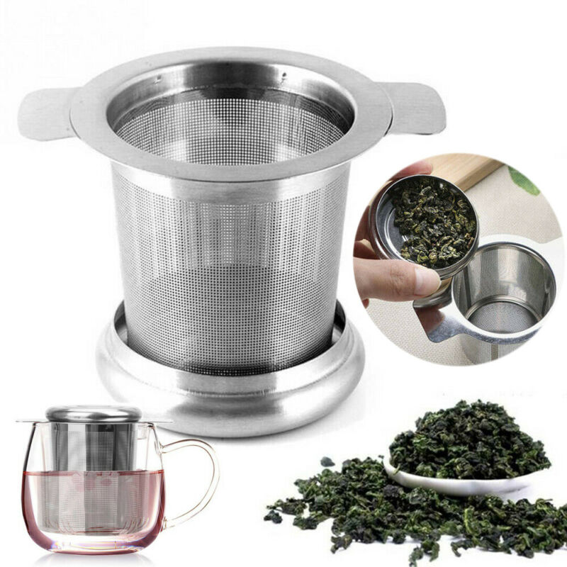 Creative Stainless Steel Mesh Tea Infuser Metal Cup Strainer Loose Leaf Filter Herb Spice With Lid Easy Clean Hot