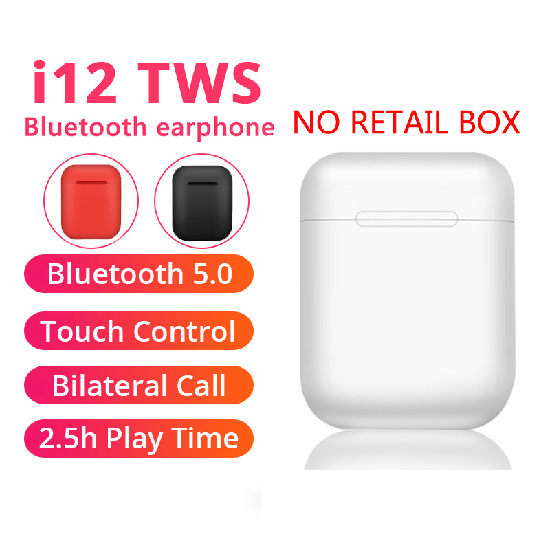 <font><b>i12</b></font> <font><b>Tws</b></font> Headphone Touch Key Wireless <font><b>Bluetooth</b></font> <font><b>5.0</b></font> Earphone Mini <font><b>Earbuds</b></font> With Mic Charging Box Sport Headset For Smart Phone image