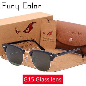Image 3 - Szklane soczewki klasyczne okulary w stylu retro mężczyźni kobiety luksusowa marka projekt gogle eleganckie okulary odcienie gafas óculos De Sol 3016