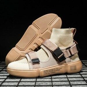 Image 5 - 2019 nouveaux hommes chaussures décontractées hommes mode baskets lumière tendance lumière marche chaussures homme travail chaussures haute qualité Sneaker marque chaussures plates