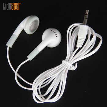 Wholesale 3.5mm Disposable Earphones for School for Gift for Museum for Concert White Cheapest Ear phone 100pcs/lot