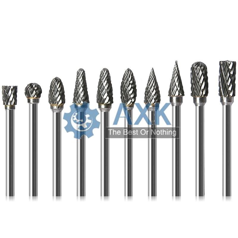 3x6mm Tungsten Steel Carbide Burr Cutter Rotary Tool Burr Double Diamond Cut Rotary Polishing Tools LT-99