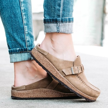 new women summer slippers spring sandals fashion solid buckle women flats shoes casual beach ladies plus size summer sandals image