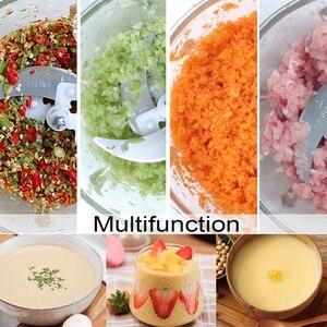 300W Electric Meat Grinder 3L Multifunction Food Vegetable Blenders Stuffing Mincer Food Processor EU Plug Detachable Design