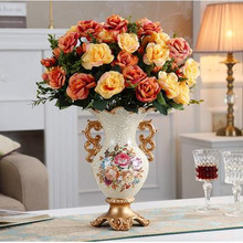 Vase Dining-Table Home-Decorations Office European Ornaments Wedding-Gifts Desktop American