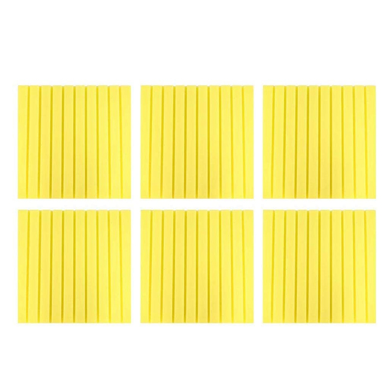 Soundproof Foam, Acoustic Panels, Strip Shape Sound-Absorbing Soundproofing Cotton Foam Acoustic Panels(Yellow)