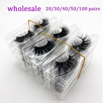 Wholesale 20/30/40/50Pairs Eyelashes 3D Mink Lashes Handmade Fluffy Dramatic Lashes Cruelty Free False Eyelashes Makeup Lashes 1