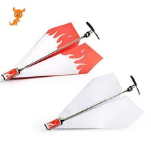 Airplane Rc Folding Paper Model DIY Motor Power Red Rc Plane Power Diecast Airplane Model Toy Air Plane Aircraft Kids Boy Toy special smoking smoke pump for rc model airplane