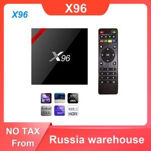 Image 1 - X96 Android 7,1 Dispositivo de TV inteligente WiFi S905W conjunto de cuatro núcleos Top Box 4K Media Player X 96 X96W Set top Box