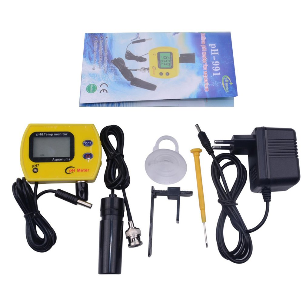 PH Meter With Backlight Water Quality Tester Durable Acidimeter Tool Temp Monitor For Aquarium Swim Pool Water